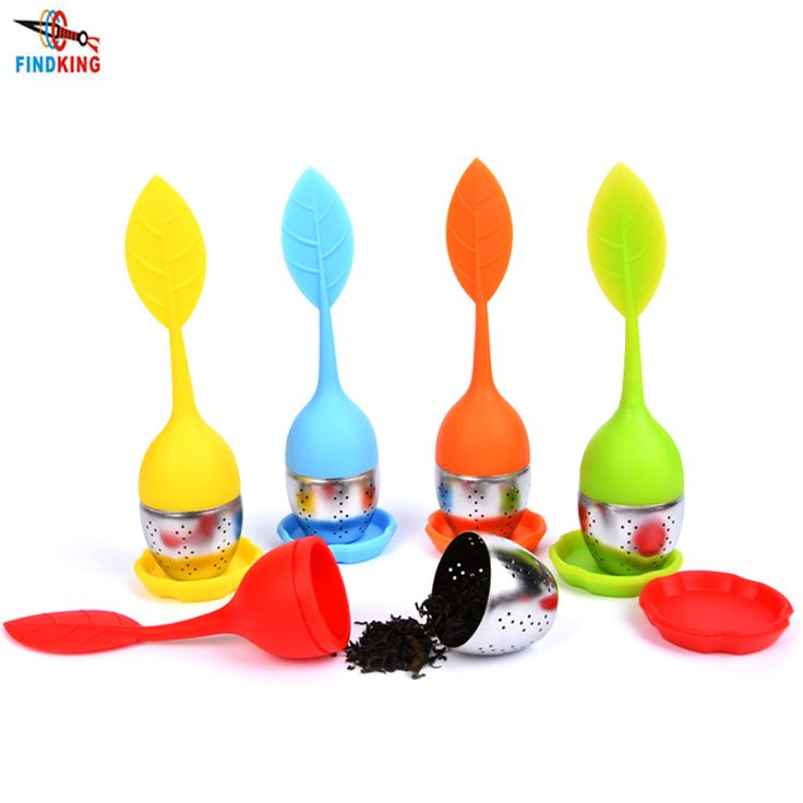 FINDKING 4pcs/lot Tea Infuser tools Leaf Silicone with Food Grade make tea bag filter 6 colors Stainless Steel Tea Strainers