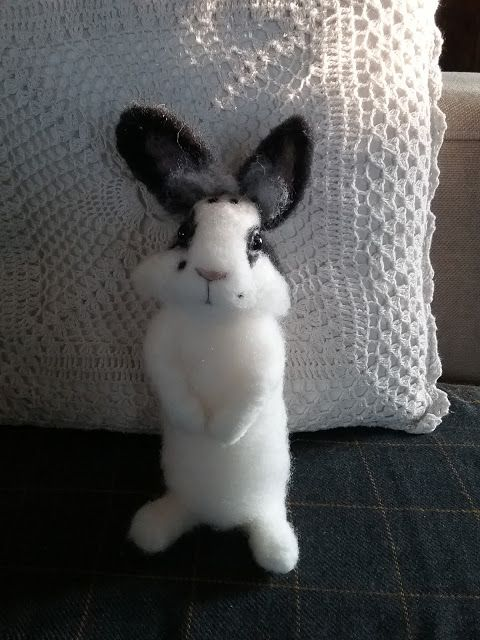 Needle felted bunny  TheDustyRabbit