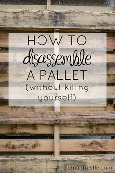How to disassemble a pallet without killing yourself! SO Helpful! Ludi Online