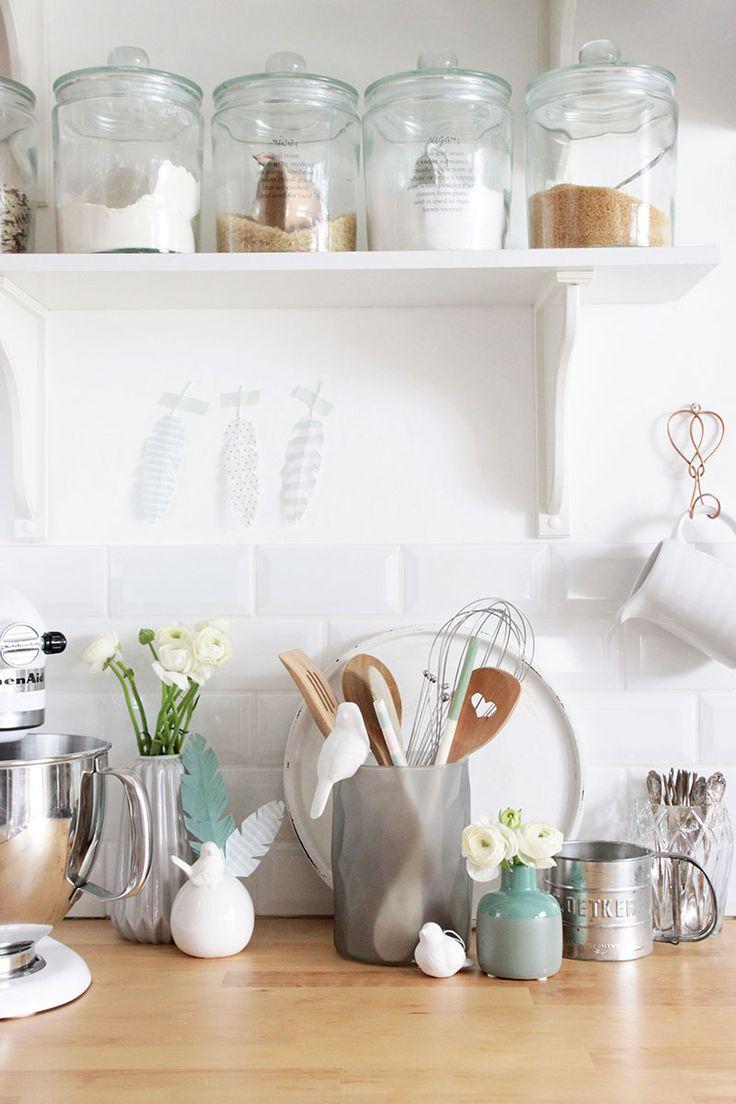"""DIY Küchen-Accessoires im Frühlings-Look. Ein frischer DIY-Beitrag von @ichliebedeko auf dem DEPOT Blog """"Schön bei Dir"""" #DIY #Frühling #Küche #schönbeidir"""