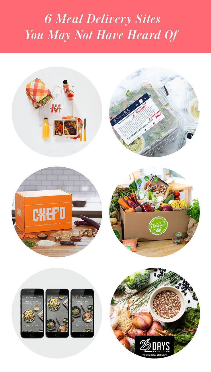 6 Meal Delivery Services You May Not Have Heard Of