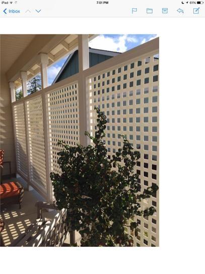 Veranda 0 2 in x 96 in x 4 ft white vinyl square for Porch screen panels home depot