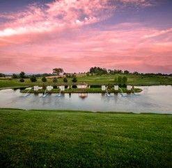 #anthonyslakeside #sunset #wedding #ceremony #reception #fountain #island #beautiful