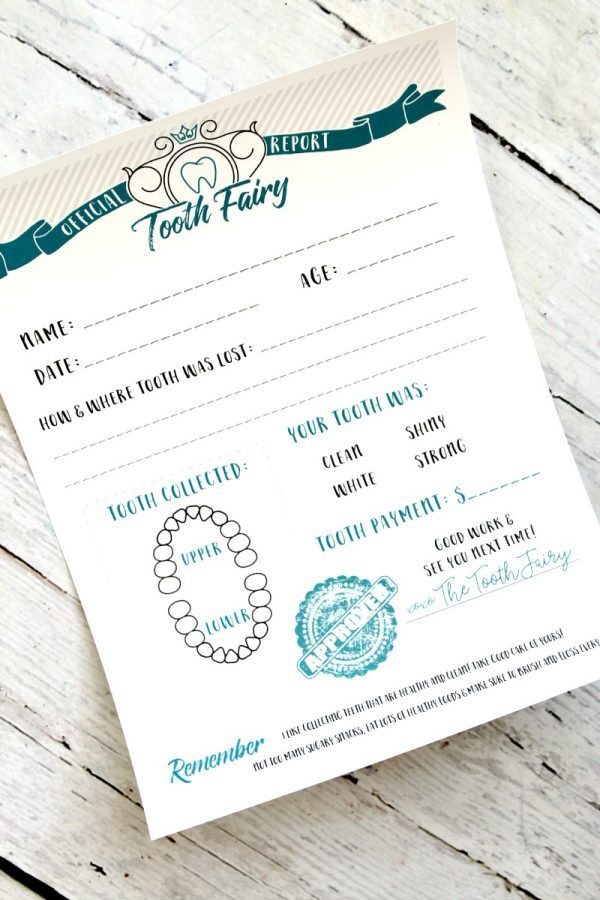 Tooth Fairy Certificate, Download this FREE PRINTABLE Tooth Fairy Certificate Report instant download, Tooth fairy certificate of record is so cute!