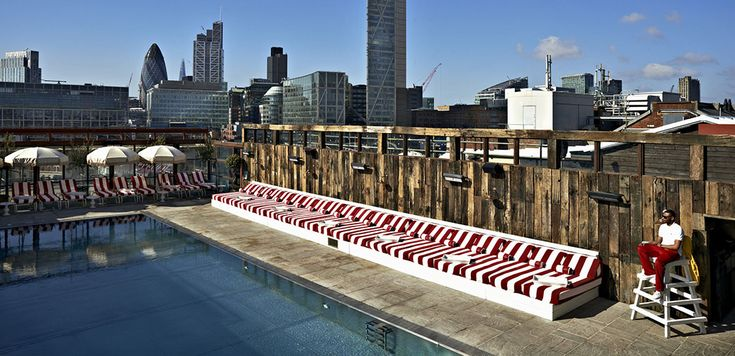 1000 ideas about rooftop pool on pinterest lap pools - Hotel in london with swimming pool ...