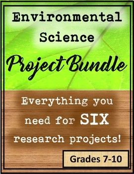 Everything you and your students need for six engaging environmental science/ecology research projects!