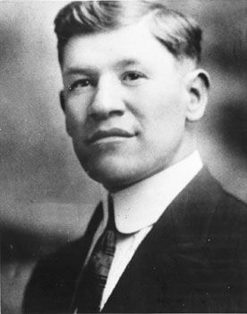 Jim Thorpe: A football All-America at Carlisle Indian Industrial School in Pennsylvania, he also won the pentathlon and decathlon at the 1912 Stockholm Games - only to forfeit the medals after it was learned he had played semipro baseball. Those golds were restored to Thorpe's family in 1983.