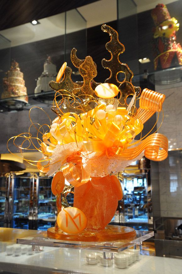 Sugar candy sculptures.