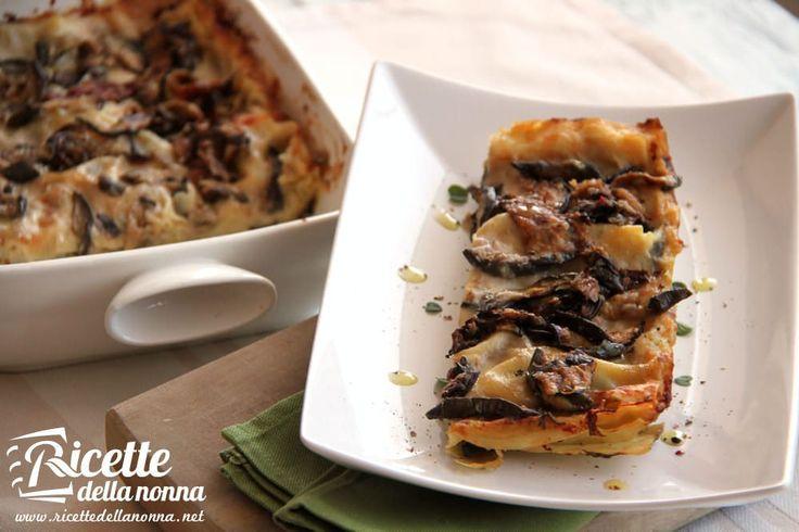 Le melanzane sono le protagoniste di queste lasagne un primo piatto di pasta al forno vegetariano caratterizzate anche dalla presenza di una salsa di porri e da una classica besciamella.
