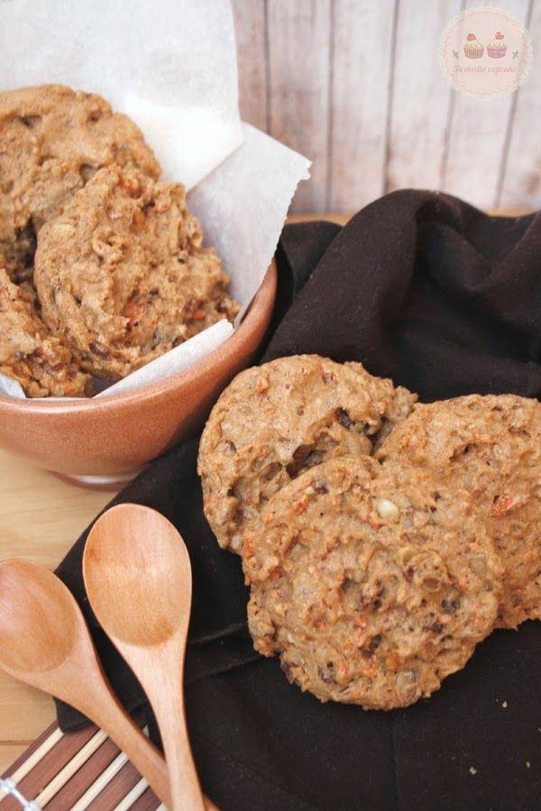 Cómo hacer galletas de zanahoria sin azúcar. No os podéis perder la receta que compartimos desde el blog Tu Medio cupcake. Te encantará... ¡y es sin azúcar!