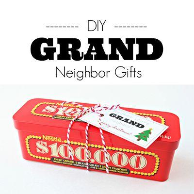 DIY Grand Neighbor Gifts