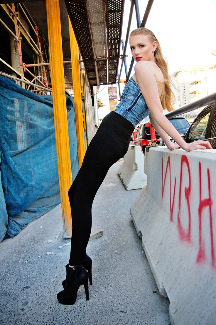 Styling Fashion Photography Edgy Street Photo Shoot Bodysuit And High Waisted Leggings Slick