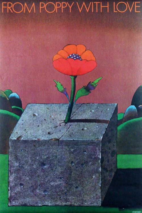 Milton Glaser, From Poppy with Love, 1967.