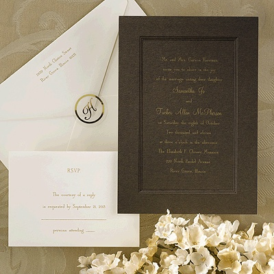 best images about brown wedding invitations on   ink, invitation samples