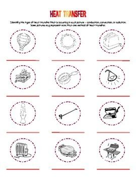 Printables Heat Transfer Worksheet 1000 images about heat transfer on pinterest activities students review methods of conduction convection and radiation by classifying