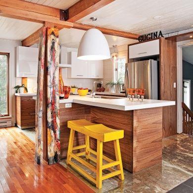 Cuisine au look campagnard industriel - Cuisine - Inspirations - Décoration et rénovation - Pratico Pratiques - Poutres au plafond