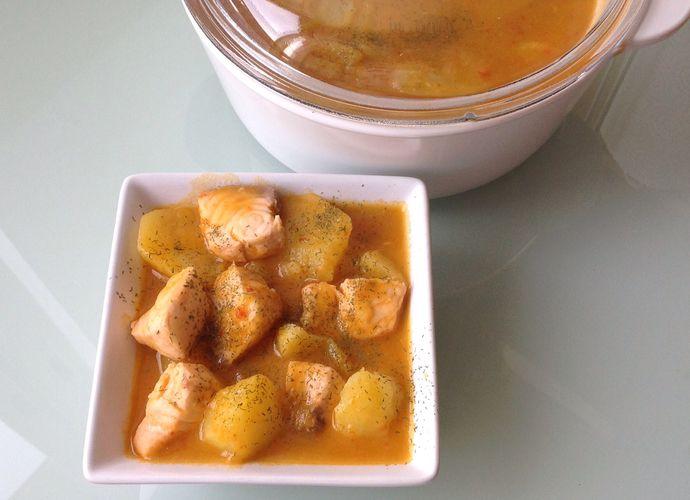 Marmitako de Salmón para #Mycook http://www.mycook.es/receta/marmitako-de-salmon