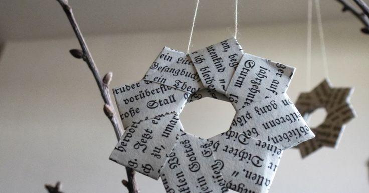 Vor einiger Zeit hatte ich  hier  schon einmal das Foto eines Papiersternes gepostet, der dieses Jahr aus meiner Wichtelwerkstatt hervorgeg...