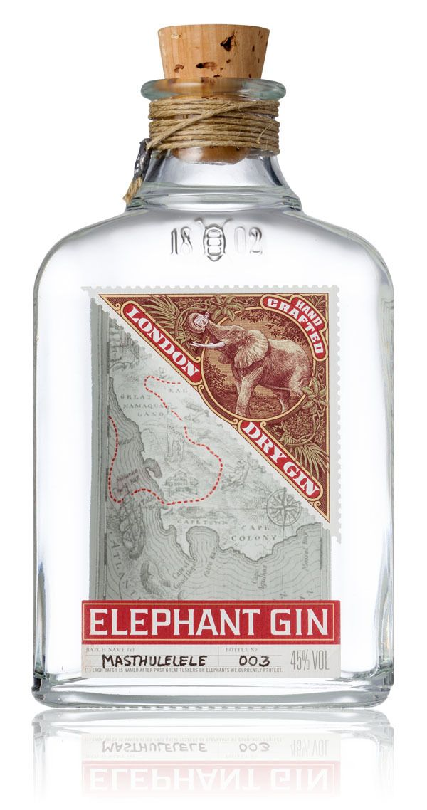 Elephant Gin by Simon Frouws, via Behance PD
