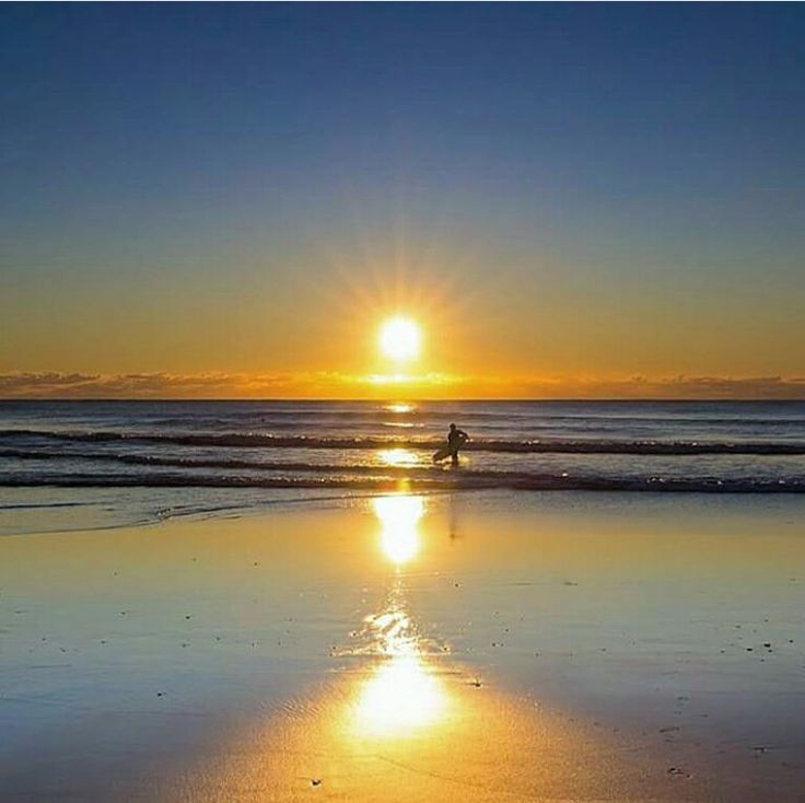 Reflection sunrise at Currumbin Beach with an early morning surfee  ~ Angels_Unisex_Jewellery