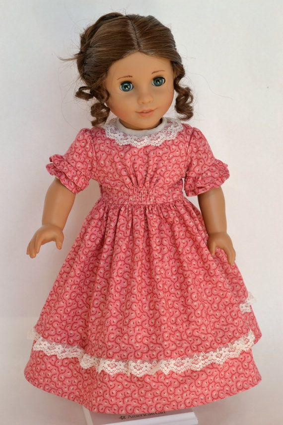 American Girl 18 Inch Historical Doll Dress Civil War Victorian Marie-Grace Cecile - Pink