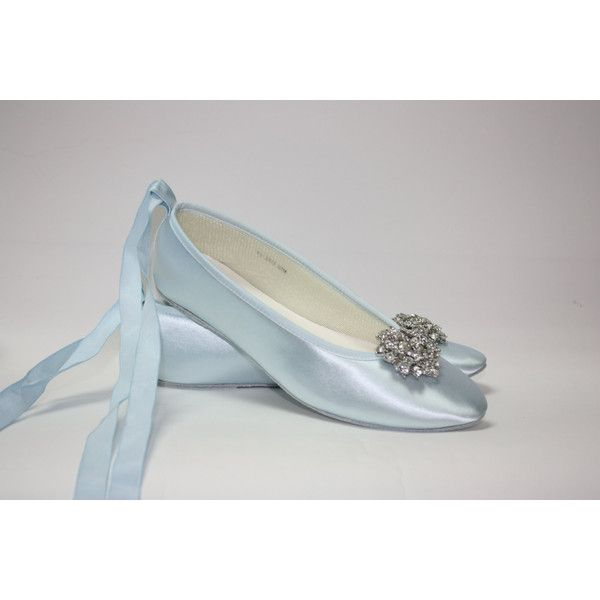 Wedding Shoes - Ballet Flats - Blue Shoes- Choose Over 100 Colors -... ($156) ❤ liked on Polyvore featuring shoes, accessories, weddings, white, bridal shoes, crystal wedding shoes, blue flat shoes, blue shoes and ballet flats