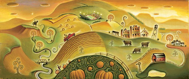 First Day of Fall. Illustration by Tim Zeltner. Represented by i2i Art Inc…