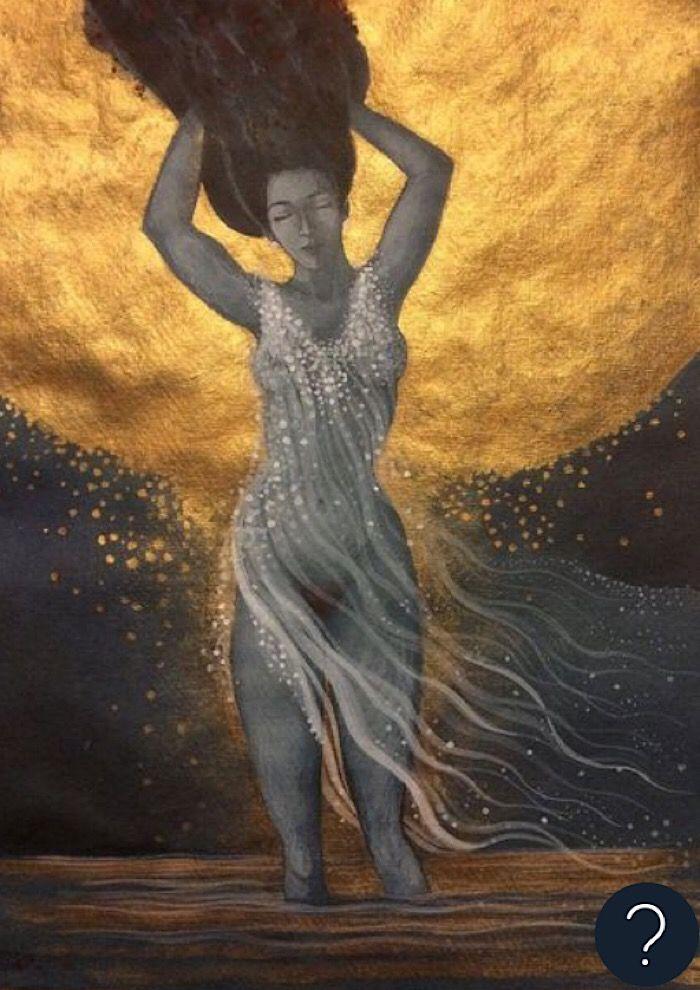 Golden: Nude in golden sunlight and water The post Golden appeared first on ArtClickIreland.com. #IrishArt
