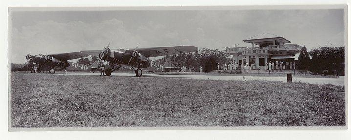 Vliegveld Andir van de Nederlands-Indische Luchtvaart Maatschappij, Java, Indonesië (1919-1930)
