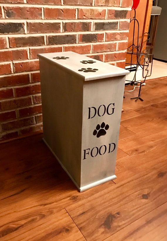 Dog Food Storage Dog Food Container Pet Food By SDWoodDesigns Leave Bottom  Open For Food Dishes