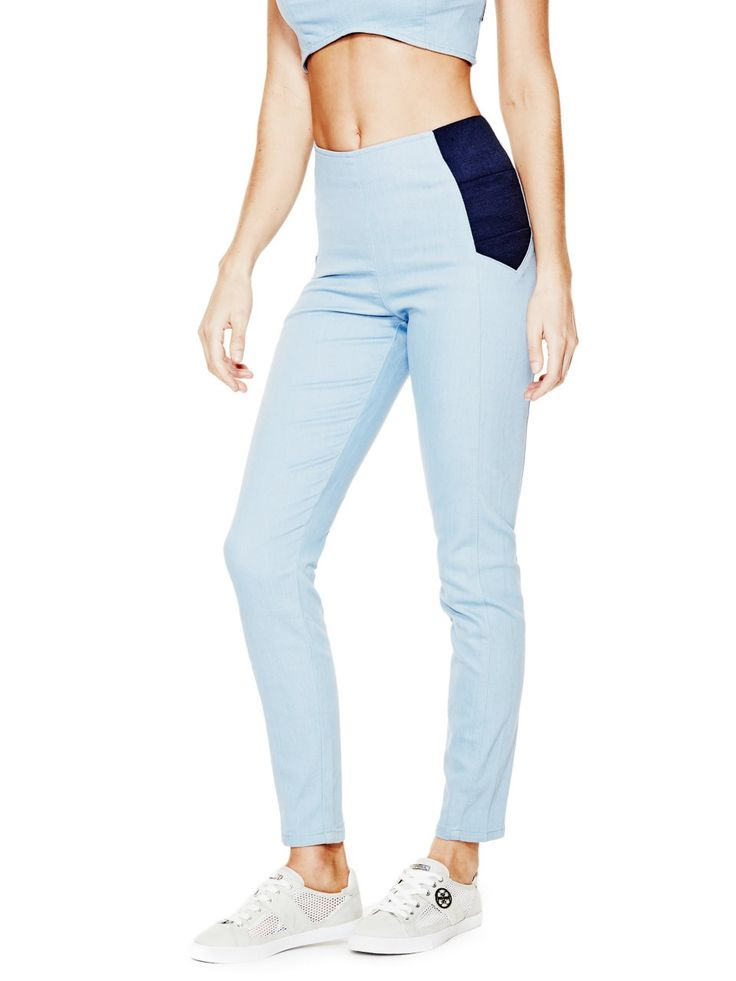 Jeancare High-Rise Jeggings with Silicone Rinse