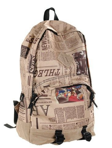Unique scrawl print cool school backpack, any students heading back to school, this cool backpack bag that can show you personal style. Highlight unique print, adjustable shoulder straps, roomy zipper