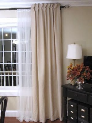 How to Turn Tab Top Curtains to Back Tab Curtains.
