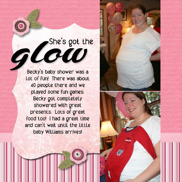Image Of Baby Shower Scrapbook Layout Ideas Baby Shower Scrapbook