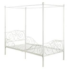 Canopy Bed Metal/White (Twin) - Dorel Home Products : Target