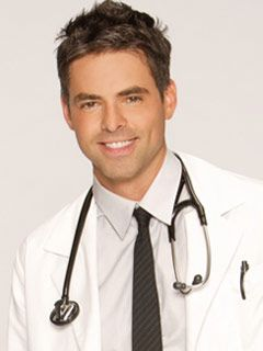 Jason Thompson as Dr. Patrick Drake. Dr. Noah's (Rick Springfield) son. Great casting General Hospiral