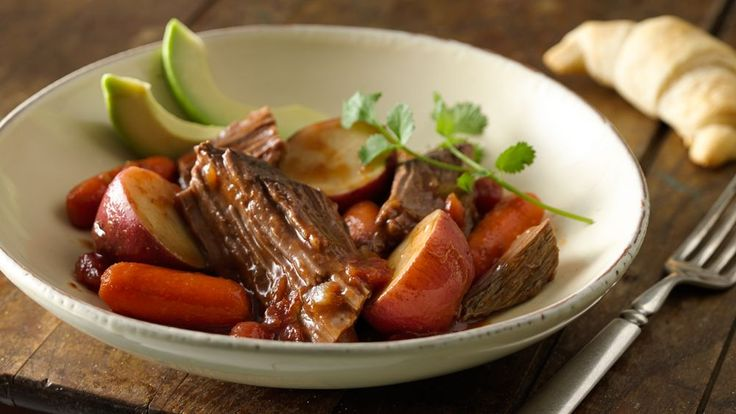 Salsa quickly puts a Mexican spin on ever-popular pot roast!