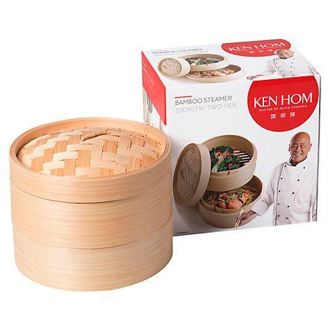 Buy Ken Hom Wok Bamboo Steamer Online at johnlewis.com