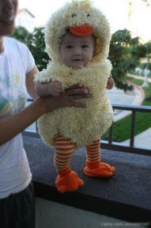 Saturday Laughs baby duck costume