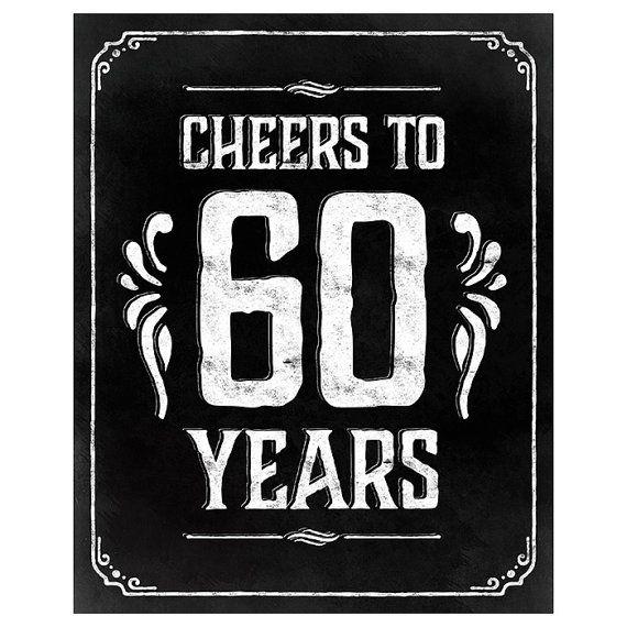 60th birthday decorations printable 60th birthday by SunnyNotes