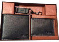 Coach Men's Black Leather Wallet