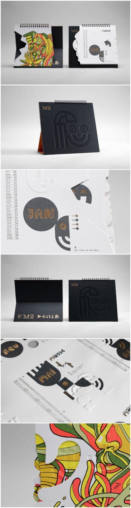 Design Agency:José Mendes Brand / Project Name:M2, artes Gráficas 2016 Desk Calendar Location:Portugal Category: #promotional #calendar
