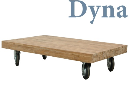 Salontafel op wielen ook goed zelf te maken met een oude dikke plank en grote wielen lekker - Wat op een salontafel ...