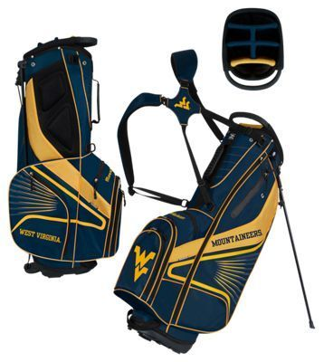 Team Effort GridIron III Stand Golf Bag - West Virginia University