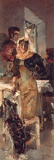 Russian Art: Mikhail Vrubel (1856-1910)  Spain - 1894