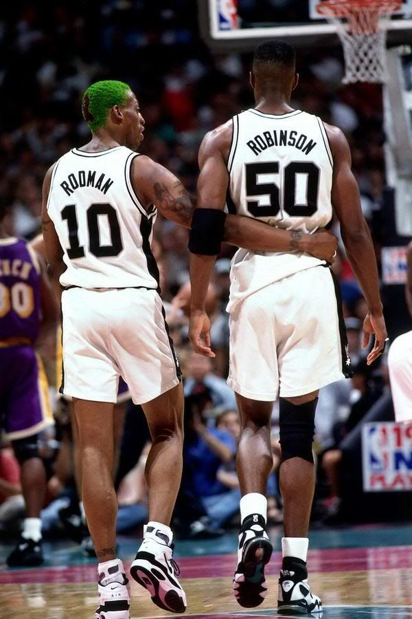 Dennis Rodman and David Robinson  The Worm and The Admiral