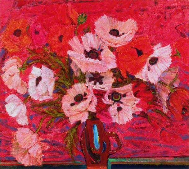 Poppies by Sir Robin Philipson (1916-1992)