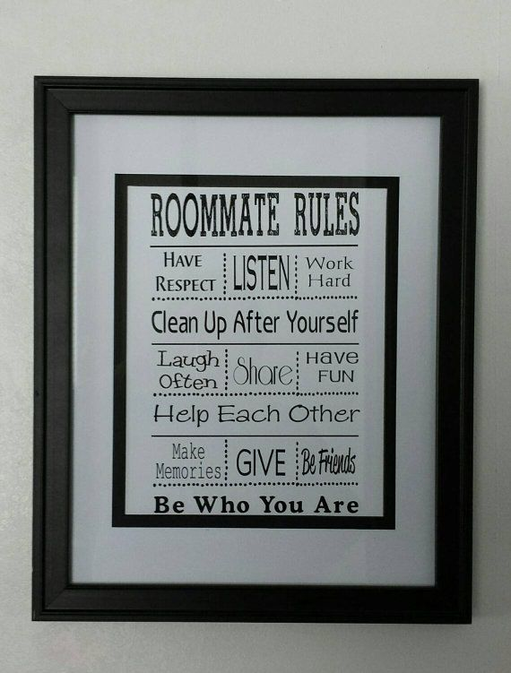 Graduation Gift   Personalized Roommate Rules Part 29