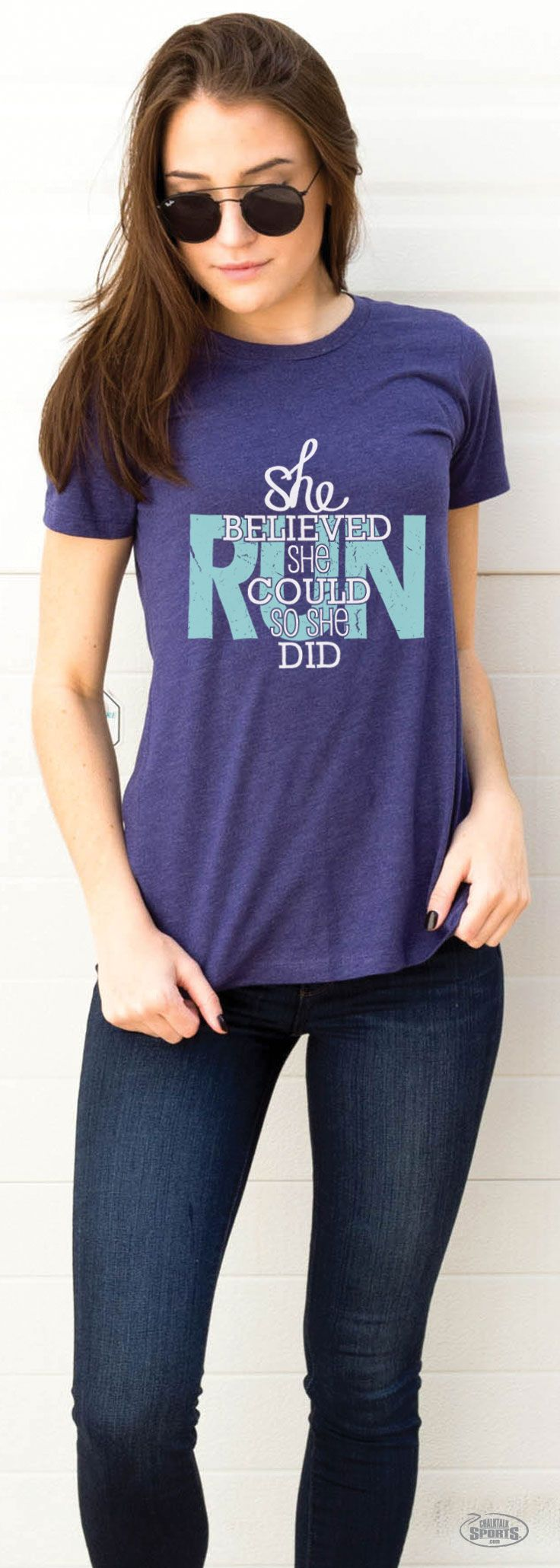 Every cross country runner knows that finding cool and breathable clothing is very important. This t shirt not only is that, but the message on the shirt is important to keep in a state of mind. You can do anything!!