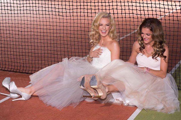 Beautiful photo of tennis sisters Ula and Aga Radwanska. Tutus and tennis, anyone?